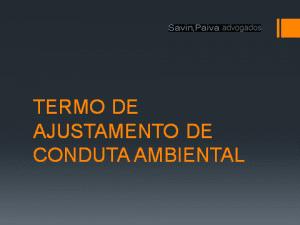 Termo de Ajustamento de Conduta Ambiental