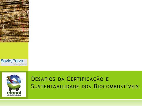 certificação dos biocombustíveis